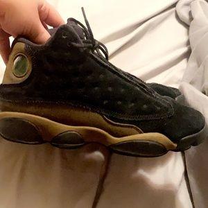 Olive/Black Jordan 13s